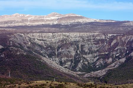 View of Dinara mountain from Knin fortress, Croatia