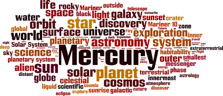Mercury word cloud concept. Vector illustration