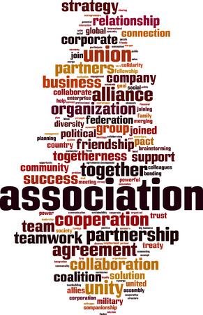 Association word cloud concept. Vector illustration
