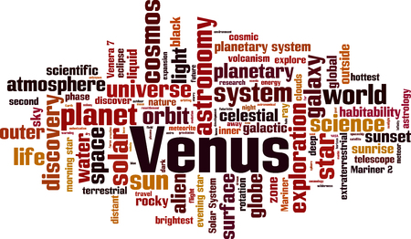 Venus word cloud concept. Vector illustration