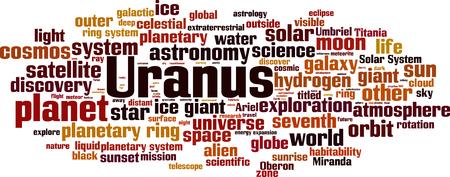 Uranus word cloud concept. Vector illustration