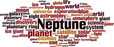 Neptune word cloud concept. Vector illustration