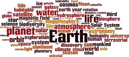 Earth word cloud concept. Vector illustration