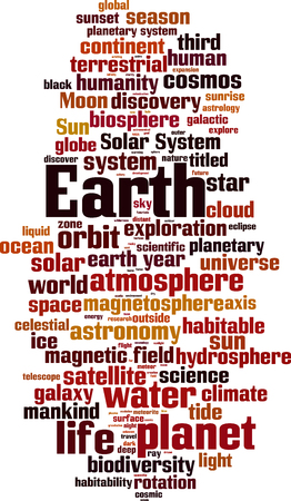 Earth word cloud concept. Vector illustration Illustration