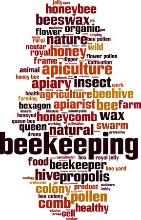 Beekeeping word cloud concept. Vector illustration
