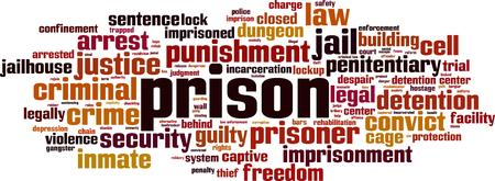 Prison word cloud concept. Vector illustration