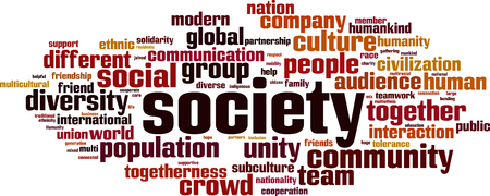 Society word cloud concept. Vector illustration Vetores