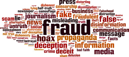 Fraud word cloud concept. Vector illustration