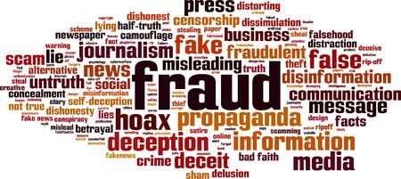 Fraud word cloud concept. Vector illustration