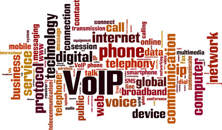 VoIP word cloud concept. Vector illustration