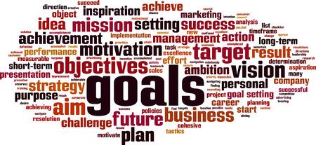 Goals word cloud concept. Vector illustration