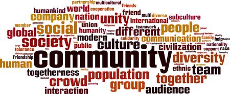 Community word cloud concept. Vector illustration  イラスト・ベクター素材