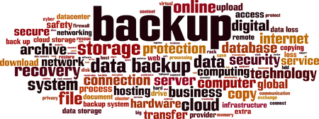 backup word cloud concept. Vector illustration Standard-Bild - 127263669