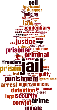 Jail word cloud concept. Vector illustration Stockfoto - 127263673