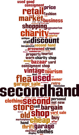 Secondhand word cloud concept. Vector illustration Banque d'images - 112859437