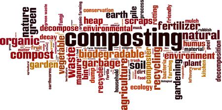Composting word cloud concept. Vector illustration