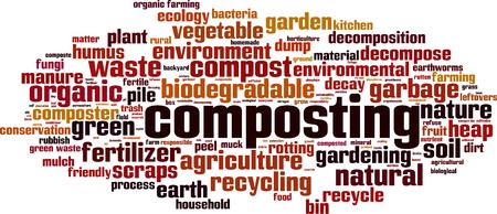 Composting word cloud concept. Vector illustration Illustration