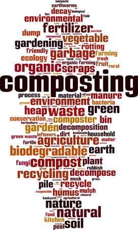 Composting word cloud concept. Vector illustration  イラスト・ベクター素材