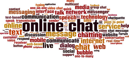 Online chat word cloud concept. Vector illustration Vetores