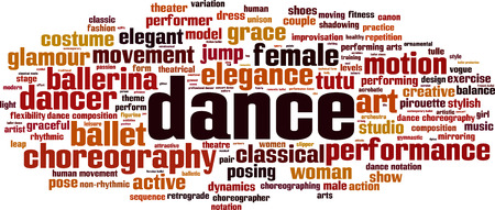 Dance word cloud concept. Vector illustration