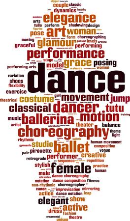 Dance word cloud concept. Vector illustration