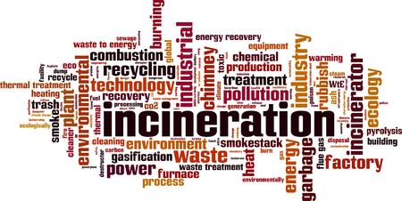 Incineration word cloud concept. Vector illustration Çizim