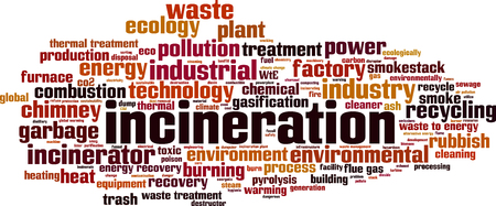Incineration word cloud concept. Vector illustration Illustration