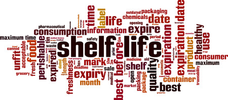 Shelf life word cloud concept. Vector illustration