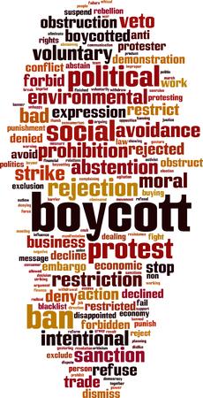 Boycott word cloud concept. Vector illustration Illustration