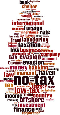 No tax word cloud concept. Vector illustration Illustration