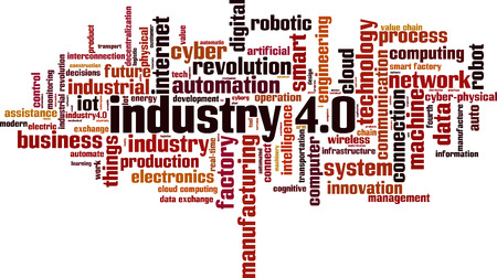 Industry 4.0 word cloud concept. Vector illustration