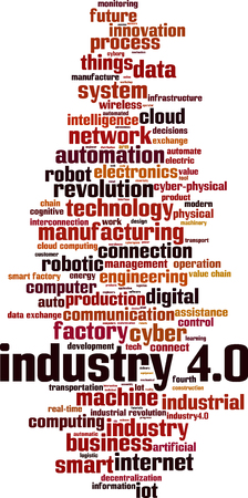 Industry 4.0 word cloud concept. Vector illustration Reklamní fotografie - 114712635