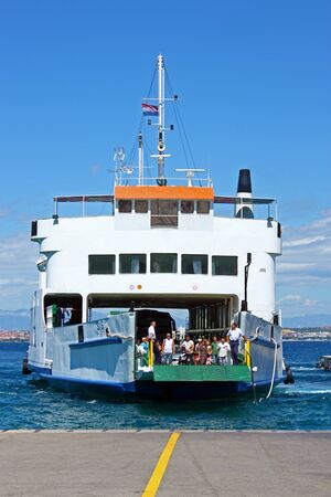 PREKO, CROATIA - JUNE 26, 2011: A largey in the port of Preko on the island of Ugljan, Croatia
