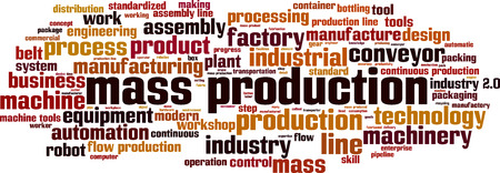 Mass production word cloud concept. Vector illustration 스톡 콘텐츠 - 126236627