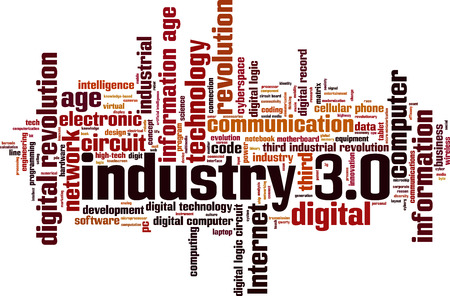 Industry 3.0 word cloud concept. Vector illustration