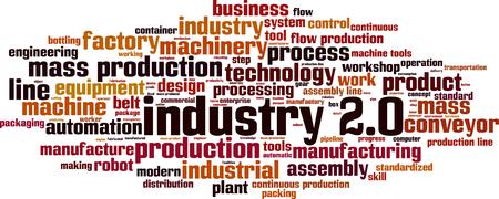 Industry 2.0 word cloud concept. Vector illustration Ilustração