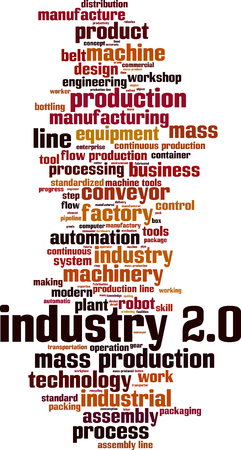 Industry 2.0 word cloud concept. Vector illustration 일러스트