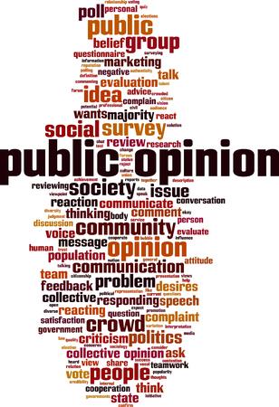 Public opinion word cloud concept. Vector illustration  イラスト・ベクター素材