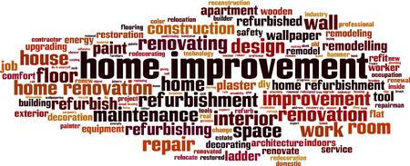 Home improvement word cloud concept. Vector illustration Иллюстрация