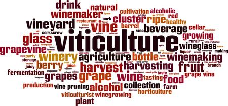 Viticulture word cloud concept. Vector illustration