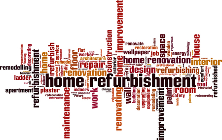 Home refurbishment word cloud concept. Vector illustration