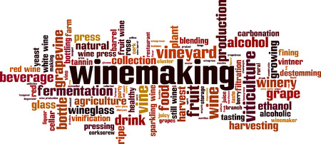 Winemaking word cloud concept. Vector illustration Illustration