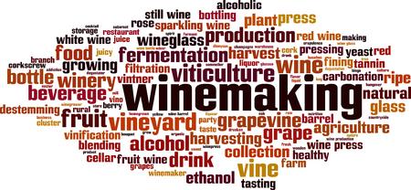 Winemaking word cloud concept. Vector illustration Illustration