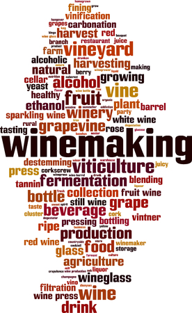 Winemaking word cloud concept. Vector illustration Illusztráció