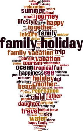 Family holiday word cloud concept. Vector illustration