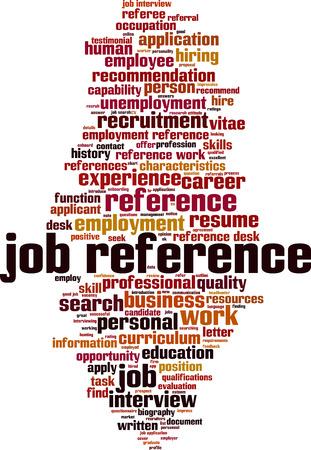 Job reference word cloud concept. Vector illustration Illustration