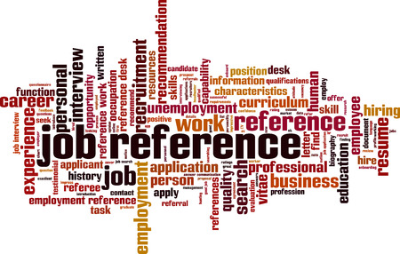 Job reference word cloud concept. Vector illustration Çizim