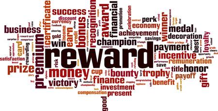 Reward word cloud concept. Vector illustration Banco de Imagens - 119073097