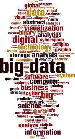 Big data word cloud concept. Vector illustration Illustration