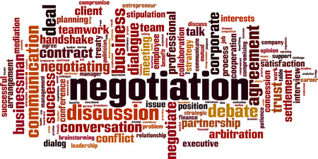 Negotiation word cloud concept. Collage made of words about negotiation. Vector illustration 版權商用圖片 - 125405457